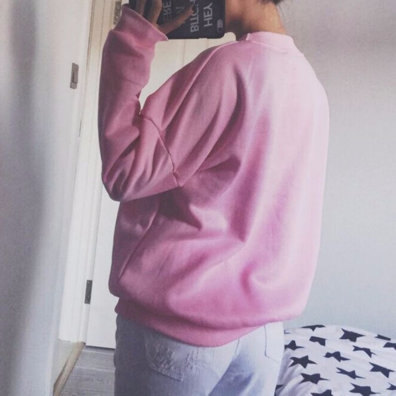 Autumn Fashion Women Pink Fleeced Thick Warm Hoodies Pullovers 800 Hotline Bling Winter Sweatshirts New 3