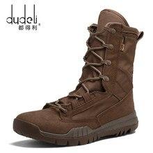 001a8ea09dc DUDELI invierno hombres botas militares cuero Fuerza Especial desierto del  ejército combate táctico botas de seguridad