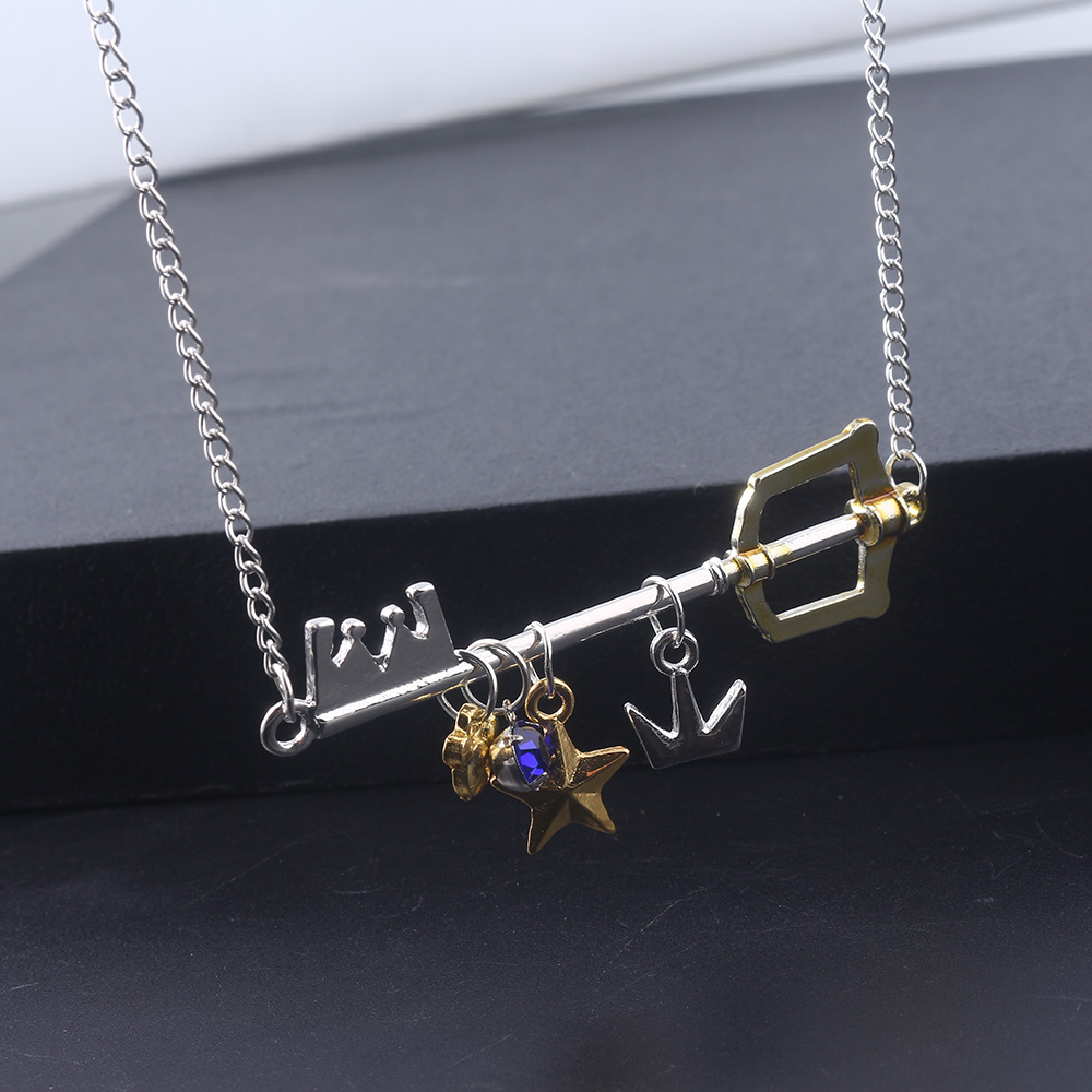 Kingdom Hearts Weapons Key Pendant of Jewelry Cosplay Necklace Set