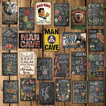 [ WellCraft ] Mave Cave Beer Cocktail Eggs Cartoon Tin Signs Wall Poster Decor for Bar Pub Metal Painting LT-1760