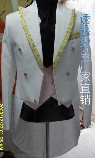 Chanteur De Bal 2016 Personnalisée Vente Bar Tailcoat Chaude Longue Smokings Hommes Costume Veste Marié Whitel Mariage Smoking Blanc Homme p6CFqwp