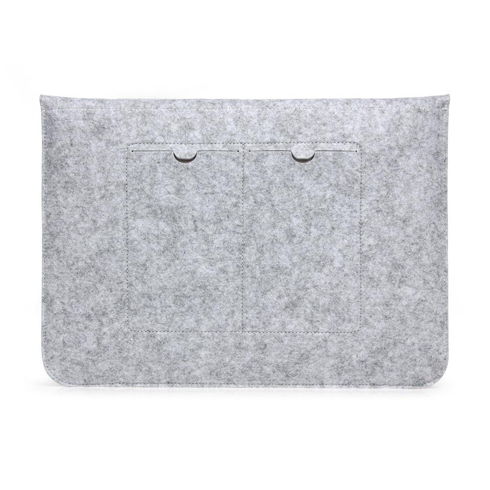 Laptop Sleeve Pouch Bag Voor Apple Macbook (10st) Luxe Retro Grijze - Notebook accessoires - Foto 5