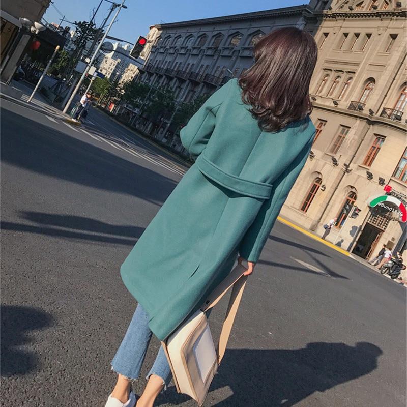 Manteau Streetwear Surdimensionné Mode Vert Élégant Sexy Chaud Coréen Laine orange Femmes 2018 Style OptzqCzx
