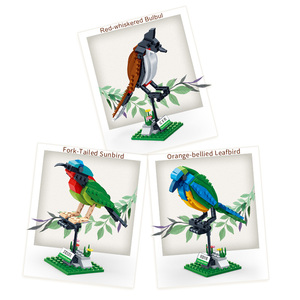 Image 3 - BanBao Building Blocks 3 Birds Set Animal Cognition Bricks with stickers Educational Toys Model for Kids Children Gift 5123