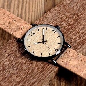 Image 5 - BOBO BIRD montres à Quartz pour hommes, avec cadran en liège souple, Grain de bois, comme article cadeau, boîte en acier inoxydable