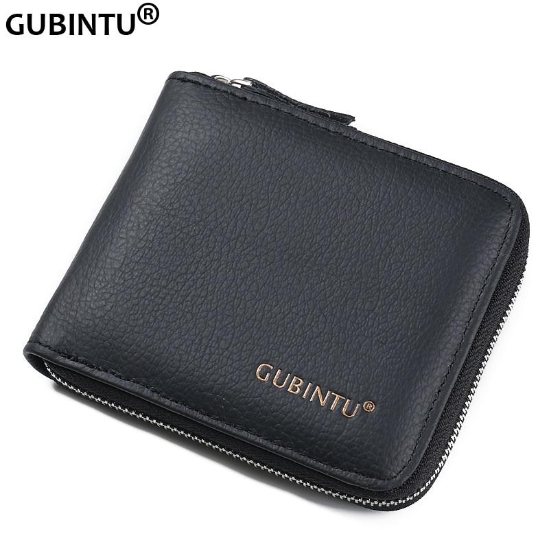Euro Stylish Zipper Purse Genuine Leather Wallets