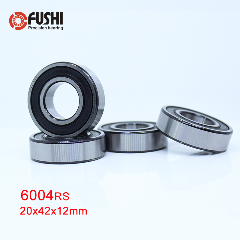 20x42x12 mm,10 pcs 6004-2RS Rubber Sealed Deep Groove Ball Bearings chrome st