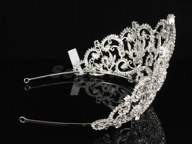 SEPjewelry alta calidad austríaco cristales transparentes strass flor nupcial Tiara corona para graduación boda accesorios para el cabello JH8382-in Joyería para el cabello from Joyería y accesorios    3