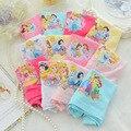 2 unids/lote Tres Princesa Baby Girls Panties Girls'boxer escritos ropa interior niños bragas de Algodón niña ropa para niños