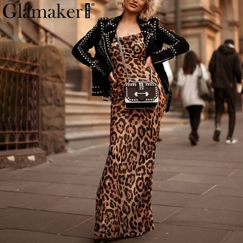Glamaker Leopard print sexy women long dress Bodycon strap christmas winter dress Elegant backless maxi party.jpg 350x350 - Giftfunny