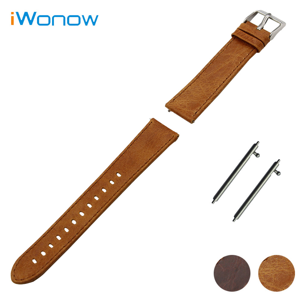 Genuine Leather Watchband 20mm 22mm for IWC Watch Quick Release Strap Stainless Steel Pin Buckle Band Wrist Belt Bracelet Brown 20mm 22mm quick release watchband for iwc watch band 5 pointer stainless steel strap wrist belt bracelet black silver tool pin
