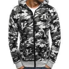 New Brand Hoodie Sweatshirt Men Hoodies Fashion Camouflage Hoodie Mens Hip Hop Coat Zip Cardigan Men'S Casual Tracksuits XXXL все цены