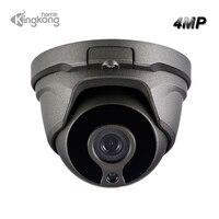 Kingkonghome Metal POE IP Camera 4MP ONVIF Network Waterproof Security Cameras Outdoor CCTV Motion Detection 1080P Bullet Cam