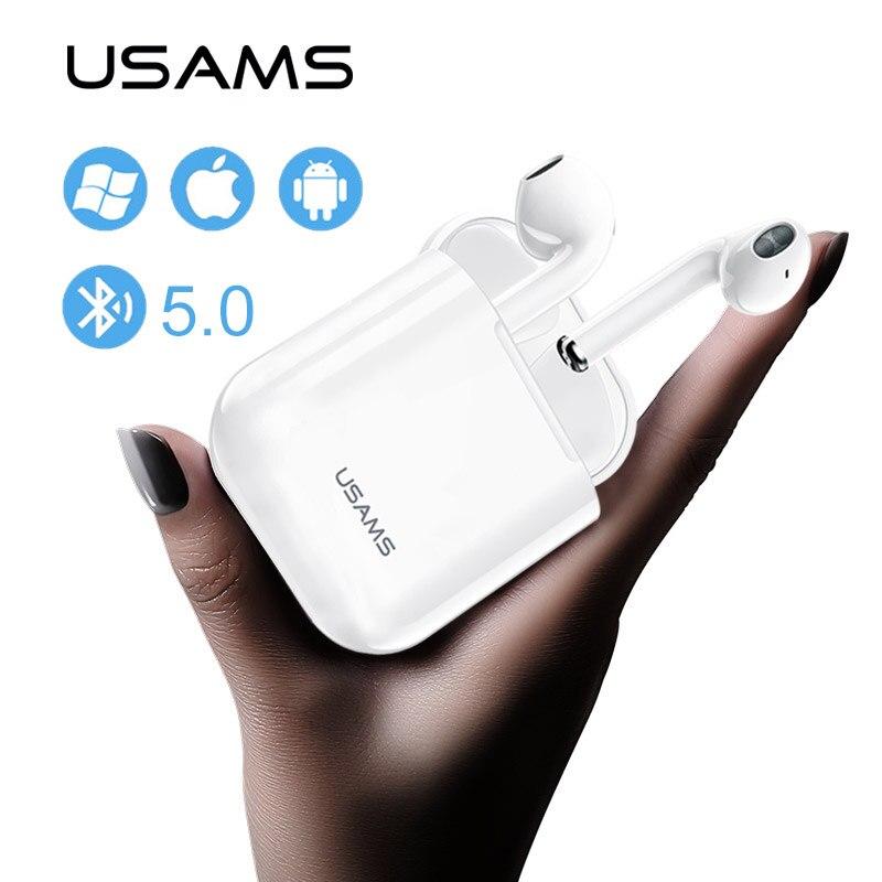 Usams Mini Wireless Bluetooth Earphone Stereo Earbud Bluetooth 5 0 Headset With Airpod Mic For All Smart Phone Call Earphones Aliexpress Com Imall Com
