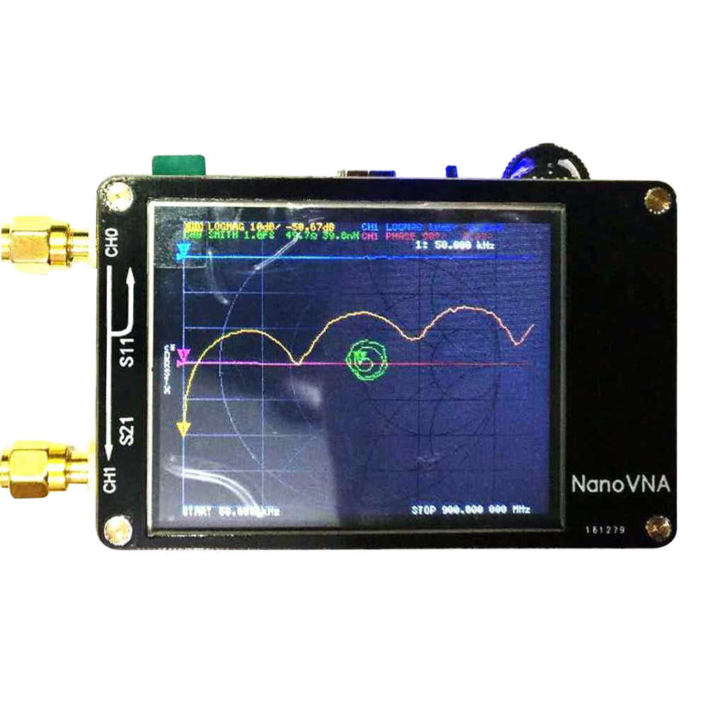 For Nanovna Vector Network Analyzer Press Screen Hf Vhf Uhf Uv 50Khz-900Mhz Antenna Analyzer Chargeable