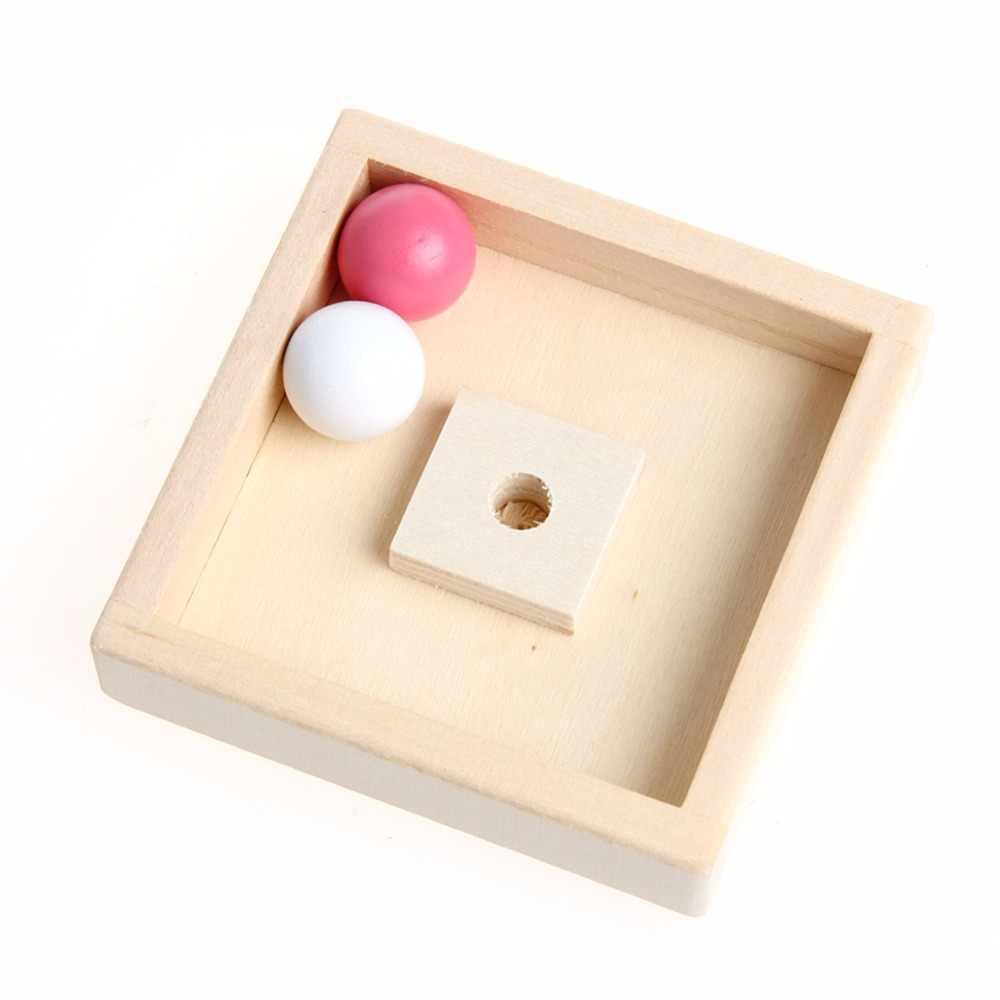 Деревянный шар бегать трек дерево для маленьких детей интеллект развивающие игрушки