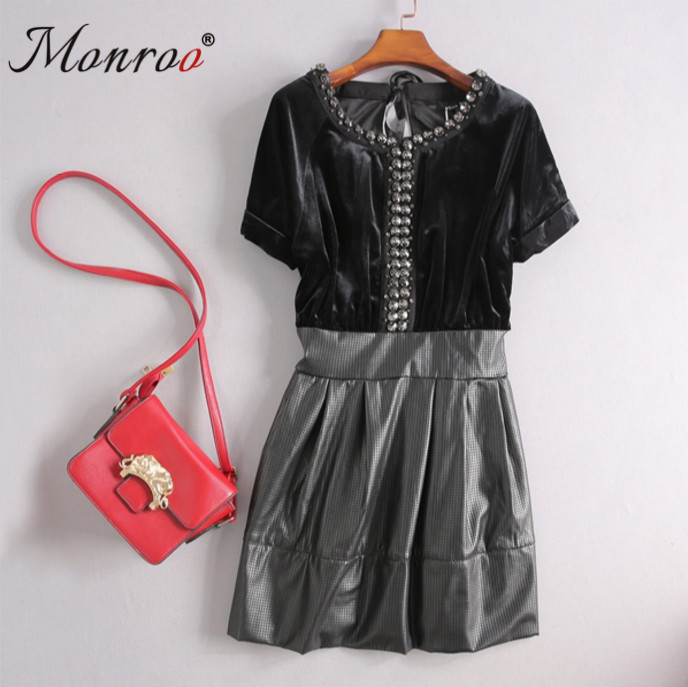 Women High Quality Sequins Boutique Dress Ladies Black Gold Metal Sequin Dresses Woman Winter Celebrity Party Prom Dress D1