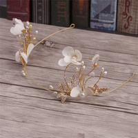 Korean Beaded Headdress Flower Bride Wedding Wedding Dress Smart Headband Hair Accessories 6666
