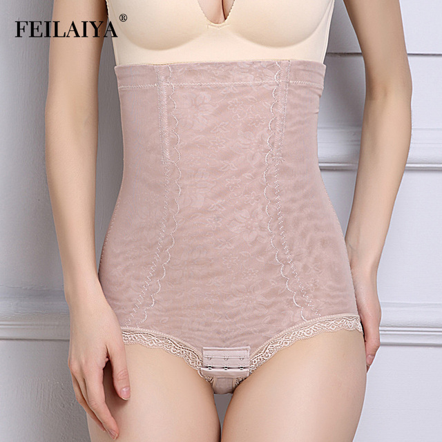 5c1c61a1d2957 Women Tummy Control Waist Panties Lace Body Shaper Corrective Underwear  Slimming Pants Plus Size Corset Butt Lifter Shapewear