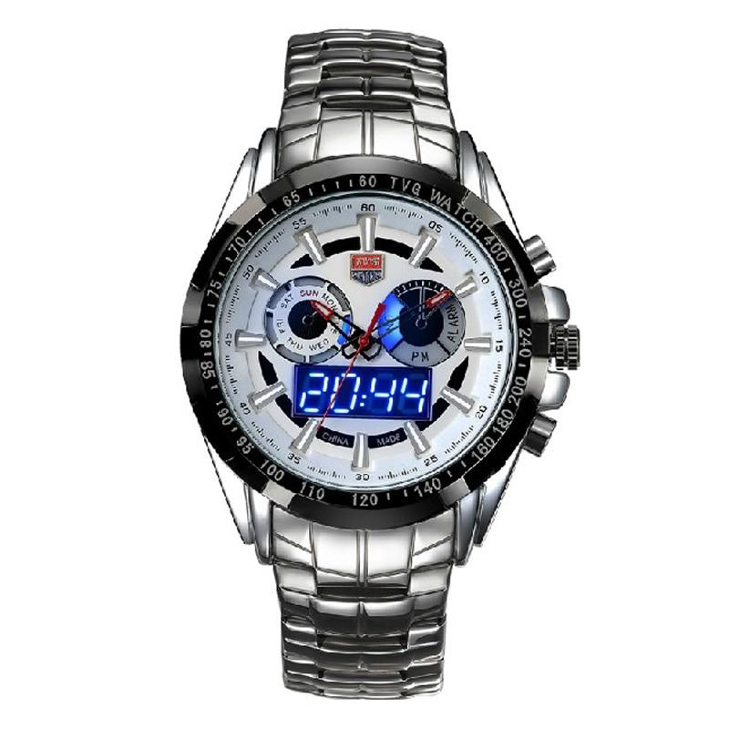 2f4ea00ecf8 ᗐTVG שעון 2018 קוורץ שורש כף יד שעונים בנות גברים זכר LED שעון ...