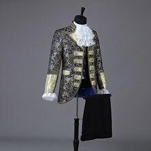 Christmas Court Men Suit European Style Prom Wedding Groomsman Formal dresses Singer Chorus Drama Outfit Studio Stage Costume