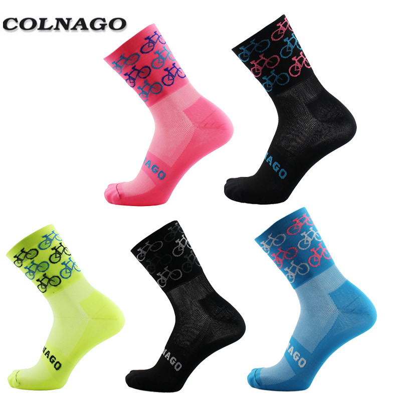 2018 Colnago High Quality Professional Brand Sport Socks Breathable Road Bicycle Socks Outdoor Sports Racing Cycling Socks