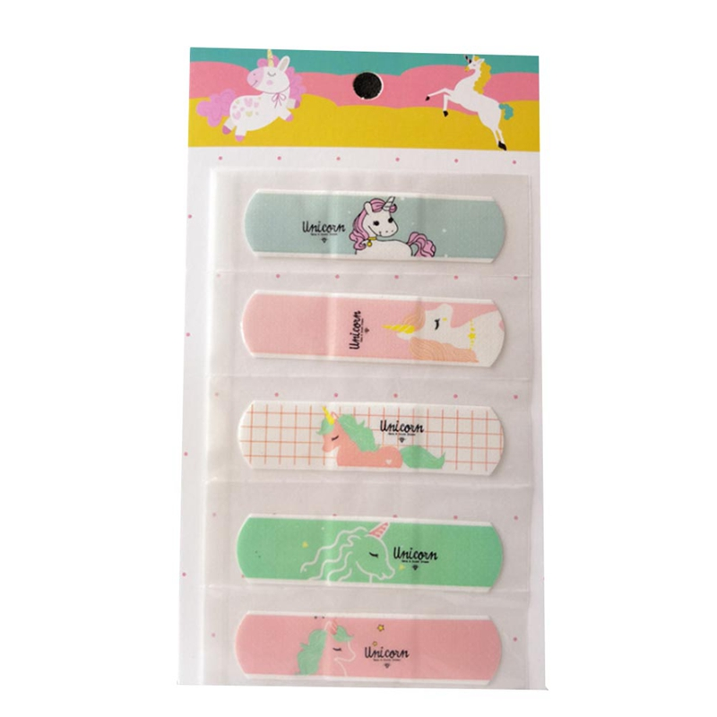 10PCS/2 Set Waterproof Cartoon Bandage Sticker Baby Kids Care First Band Aid Travel Emergency Kit