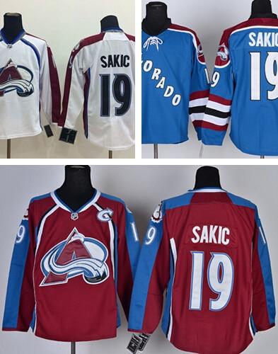 cb29336b5bf Colorado Avalanche 19 Joe Sakic Jersey