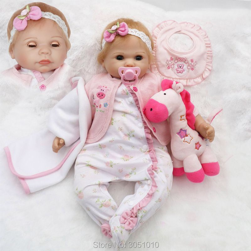 New Sale Reborn Doll With Pink Clothes Silicone Cotton Body Adora Lovely Dolls With Accessories Plush Toy Realistic Dolls Gift acrylic pink lollipop lovely