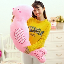 plush new creative cartoon pink bird pillow toy stuffed lovely bird doll gift about 100x28cm