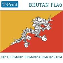 Free shipping Bhutan National Flag 3*5ft Flying Flags Brass Grommets 30*45cm Car 15*21cm 90*150cm 60*90cm Countries