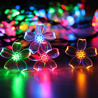 110V/220V 20M 200 Led Lamp Strip String Fairy Christmas Lights Cherry Blossoms Pendant Flashlight Lights Lampada New Year Natal