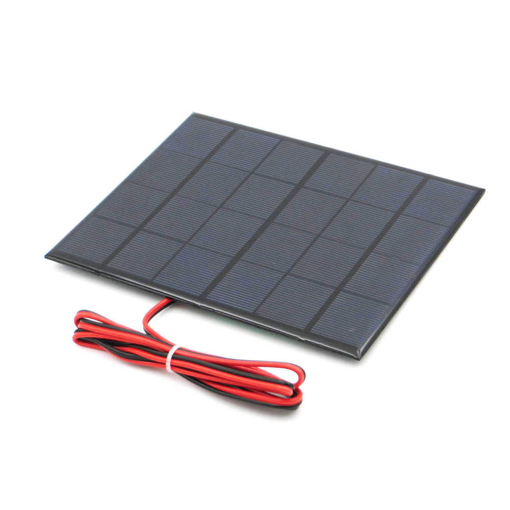 Solar Panel 6V 100mA 167mA 183mA 333mA 5000mA 583mA 750mA 1000mA 1670mA Mini Solar Battery Cell Phone Charger Portable with cab
