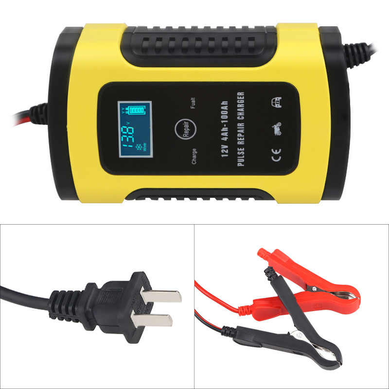 Universal 6A 12v Intelligent Smart Motorcycle Car Battery Pulse Charger Repair Type Lead Acid Storage Charger Battery Auto