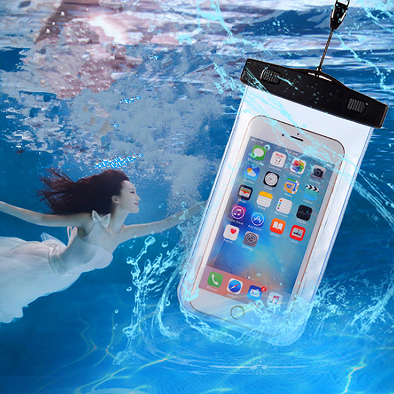 Waterproof Bag Dust Proof Underwater Pack Cover Case Pouch For iPhone 8 7 6 6S Plus 5 5S SE For Samsung S8 Plus for Xiaomi redmi