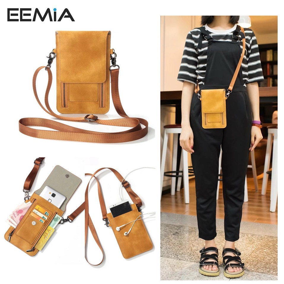 EEMIA Zipper Purse Bag For Oneplus 5t Case 6 3inches PU Leather Mobile Phone Cases Bag
