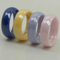 Women Girl Amazing Rare Colorful Purple Scratch Proof Ceramic Ring 1pc