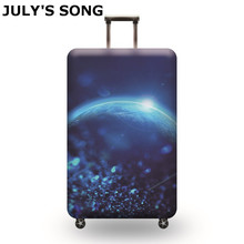 JULY'S SONG Elastic Luggage Protective Cover Apply To 19-32 Inch Trolley Suitcase Protect Dust Case Cover Travel Accessories july s song new suitcase elastic dust cover luggage case for 18 32 inch password box trolley case cat pattern protective cover