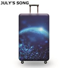 JULYS SONG Elastic bagażu osłona ochronna stosuje się do 19-32 cala wózek walizka Protect Osłona przeciwpyłowa pokrycie Akcesoria podróżne tanie tanio 74cm Poliester PIOSENKA LIPCA 400g 50cm 28cm Pokrowiec na bagaż Paisley AAB0965 suit for the suitcase 18 -21 suit for the suitcase 22 -24