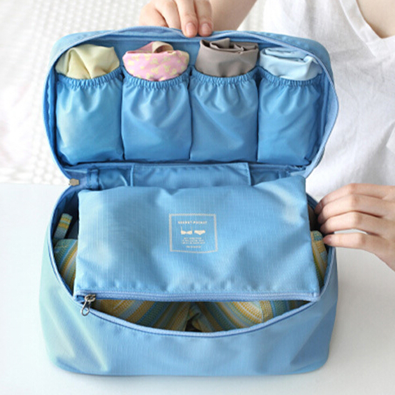 9d1e676421f 2016 Travel Necessity Accessories Women's Storage Bag For Underwear Clothes  Lingerie Bra Organizer Cosmetic Pouch Suitcase Case-in Storage Boxes & Bins  from ...