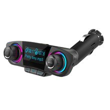 Elistooop Car FM transmitter Car MP3 Player Bluetooth 4.0 Car Hands-free Bluetooth Stereo Audio Receiver Adapter USB(China)