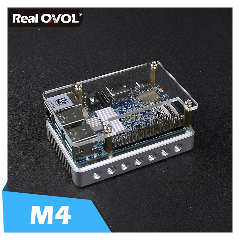 RealQvol FriendlyARM NanoPi M4 2GB/4GB DDR3 Rockchip RK3399 SoC 2.4G & 5G dual-band WiFi+Bluetooth 4.1 supports Ubuntu Android Мотоцикл