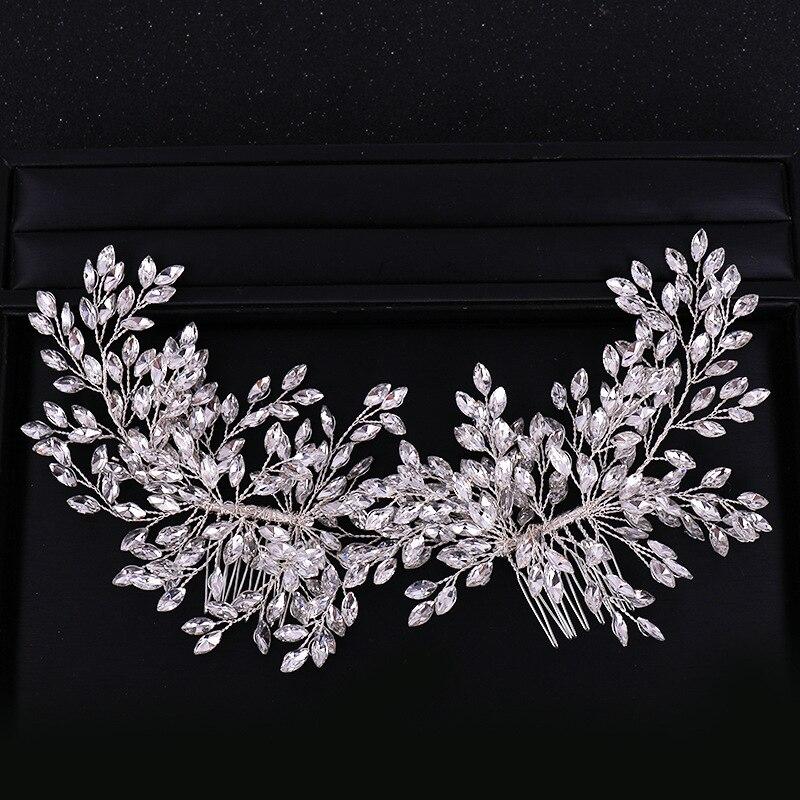 Jewelry Comb Hairband Hair-Accessories Bridal-Headband Wedding-Hair Crystal