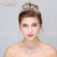 Sposa della festa nuziale di promenade goccia di cristallo del rhinestone collana tiara accessori da sposa insieme dei monili