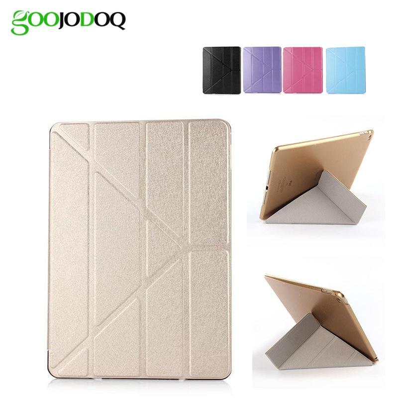 Ultra Thin Silk Smart Case for iPad Air 2/Air 1 (iPad 5/6) 4 Shapes Stand PU Leather Cover for Ipad Mini 3 2 1 Sleep/Wake A1416