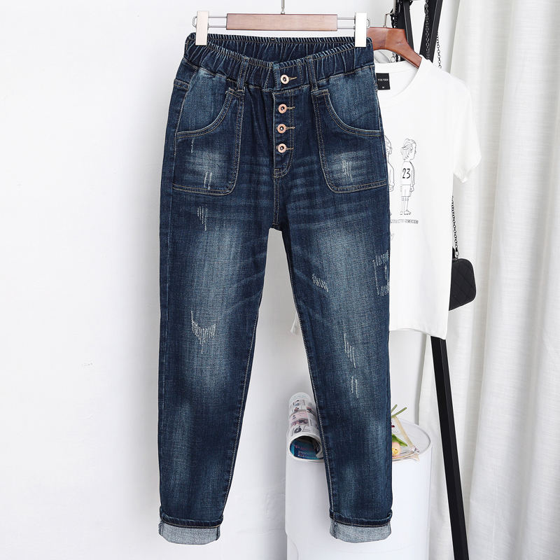 5XL High Waist Jeans Women Vintage Plus Size Jeans Femme Harem Pants Loose Boyfriend Denim Jeans Streetwear Trousers Women Z31