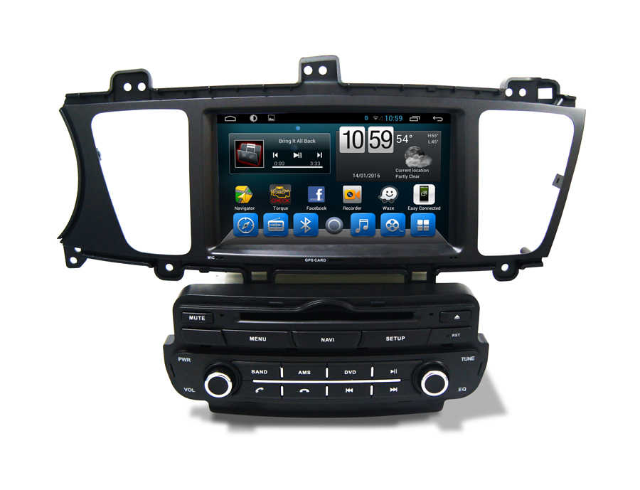 Navirider car dvd player for Kia K7/cadenza octa core android 8.1.0 car gps multimedia head unit stereo tape recorder
