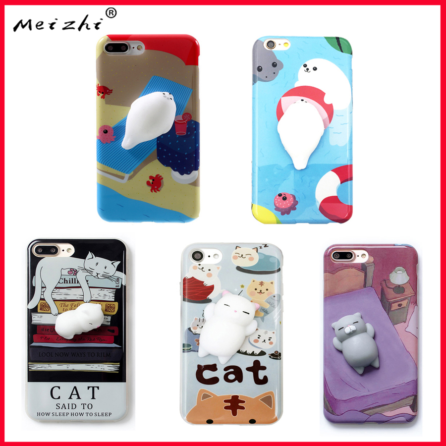 Iphone 6 squishy case - Phone Case For Iphone 6 6s 6 Plus 3d Cute Soft Silicone Squishy Cat Fundas For