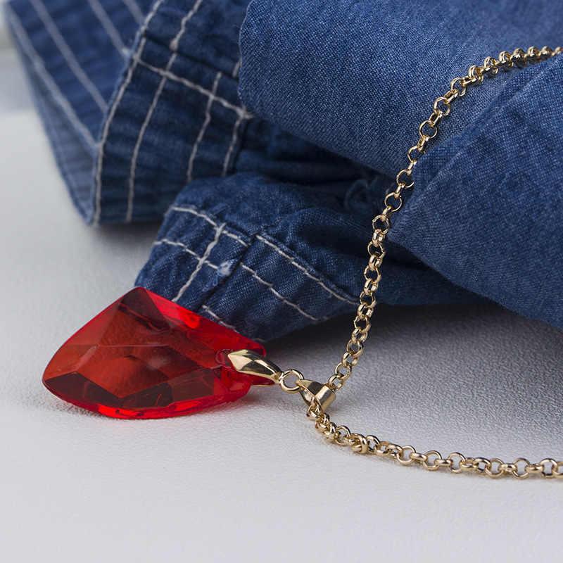 Bijoux de mode chauds rouge gemme école magique Badge Porter collier accessoires de film