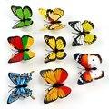 Проблесковые Огни LED Ночник Красочные Бабочки Novely ABS Украшения Дома С двусторонней клейкой наклейки Многоцветный
